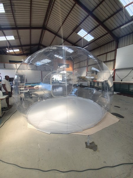FABRICATION BULLE TRANSPARENTE